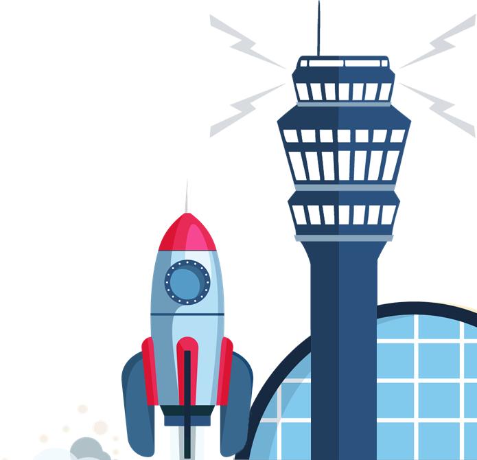 Saleship rocket launch